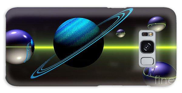 Galaxy Case featuring the digital art Rings Of Saturn by Sandra Bauser Digital Art