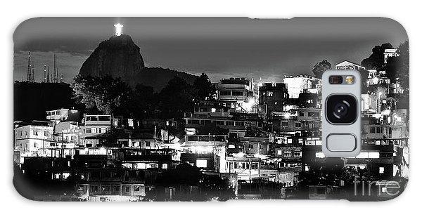 Rio De Janeiro - Christ The Redeemer On Corcovado, Mountains And Slums Galaxy Case