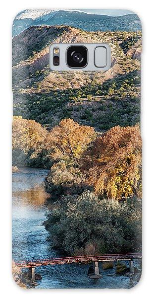 Galaxy Case featuring the photograph Rio Grande Embudo Vista by Britt Runyon