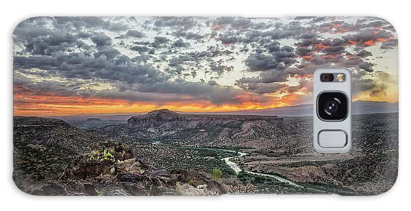 Rio Grande River Sunrise 2 - White Rock New Mexico Galaxy Case