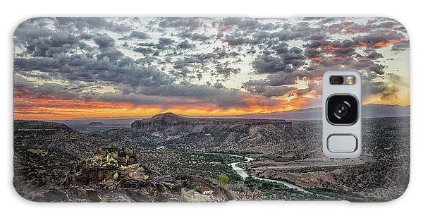 Rio Grande River Sunrise 2 - White Rock New Mexico Galaxy Case by Brian Harig