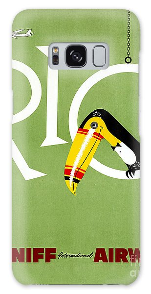 Rio Vintage Travel Poster Restored Galaxy Case