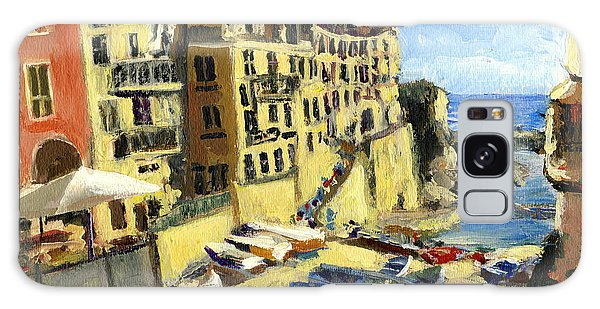 Riomaggiore Italy Late Afternoon Galaxy Case by Randy Sprout