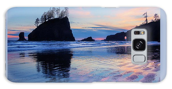 Galaxy Case featuring the photograph Ripple Reflections Of Dusk At Second Beach by Expressive Landscapes Fine Art Photography by Thom