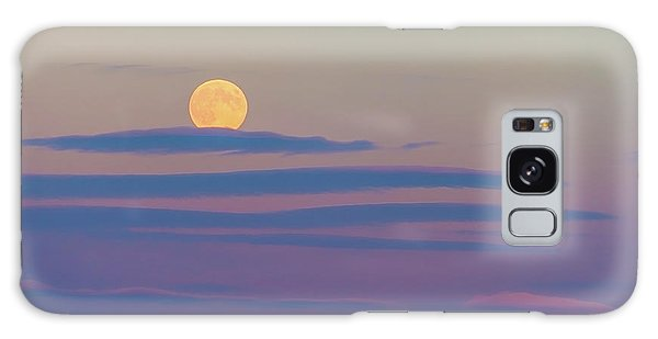 Rising Harvest Moon  Galaxy Case