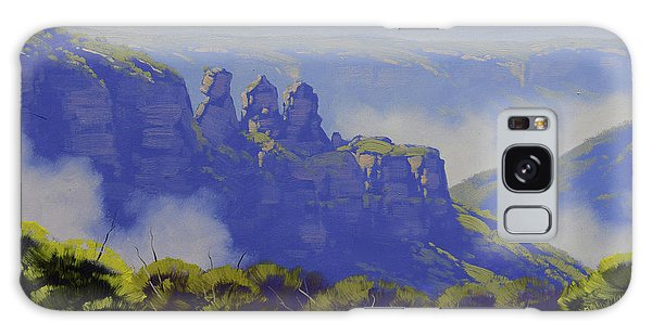 The Sky Galaxy Case - Rising Mist Three Sisters Australia by Graham Gercken