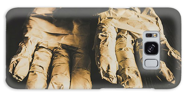 Ominous Galaxy Case - Rising Mummy Hands In Bandage by Jorgo Photography - Wall Art Gallery
