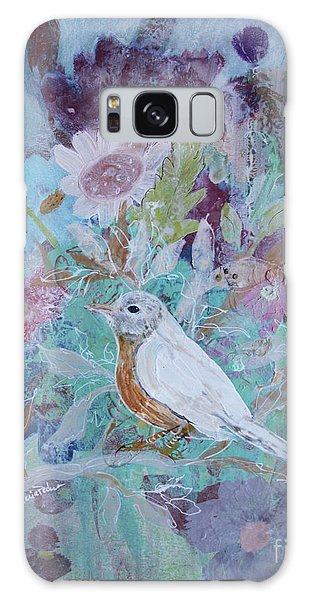 Galaxy Case featuring the painting Risky Robin by Robin Maria Pedrero