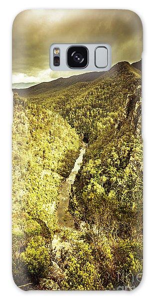 Stone Wall Galaxy Case - River Below by Jorgo Photography - Wall Art Gallery