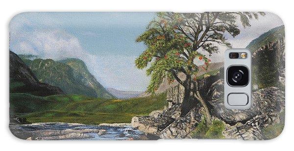 River Coe Scotland Oil On Canvas Galaxy Case