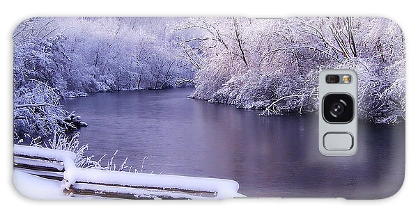 River In Winter Galaxy Case by Phil Perkins