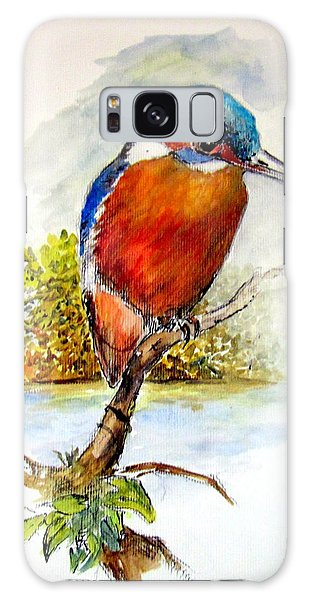 River Kingfisher Galaxy Case