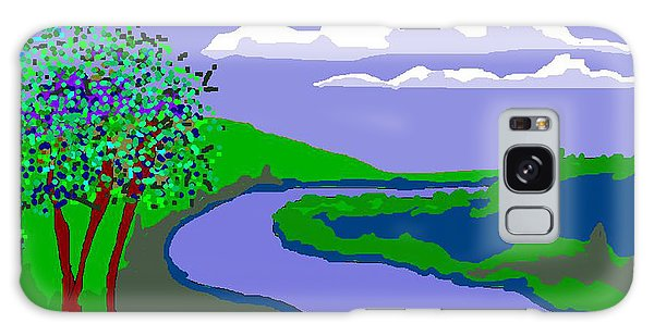 River Landscape Galaxy Case
