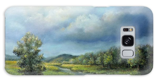 River Landscape Spring After The Rain Galaxy Case