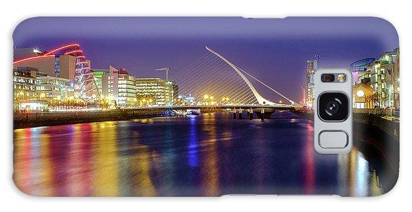 River Liffey In Dublin At Dusk Galaxy Case