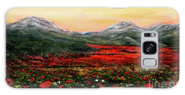 River Of Poppies Galaxy Case by Judy Kirouac