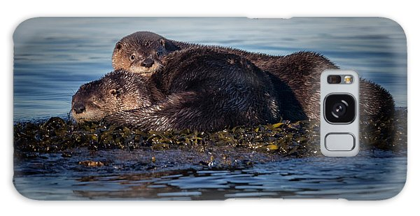 River Otters Galaxy Case by Randy Hall