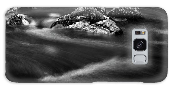 River Rock In Black And White Galaxy Case