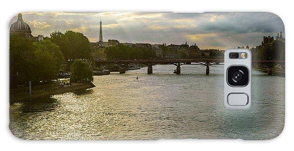 River Seine At Dusk Galaxy Case