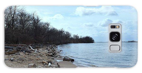 Delaware River Shoreline Galaxy Case