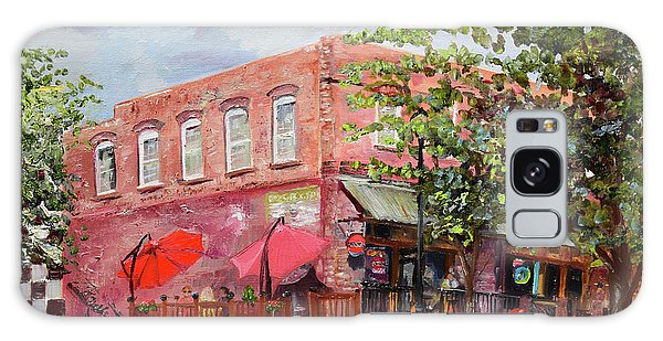 Galaxy Case featuring the painting River Street Tavern-ellijay, Ga - Cheers by Jan Dappen