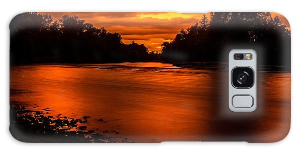 River Sunset 2 Galaxy Case