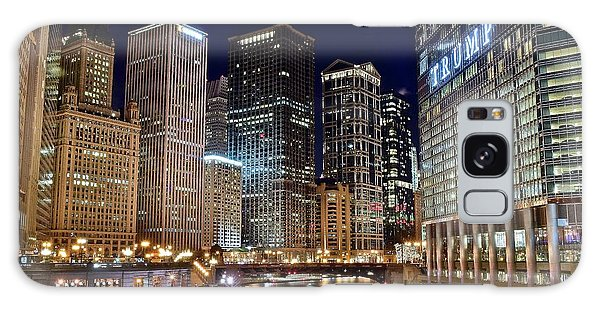 River View Of The Windy City Galaxy Case