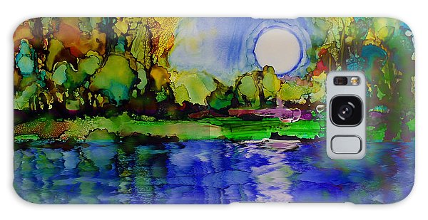 Galaxy Case featuring the painting River Walk by Priti Lathia