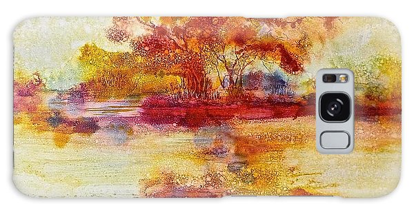 Riverscape In Red Galaxy Case by Carolyn Rosenberger