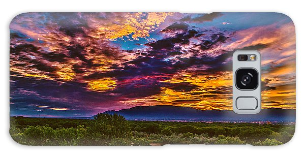 Southwest Usa Galaxy Case - Riverview Sunrise by Richard Estrada