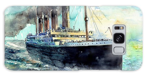 People Galaxy Case - Rms Titanic White Star Line Ship by Suzann Sines