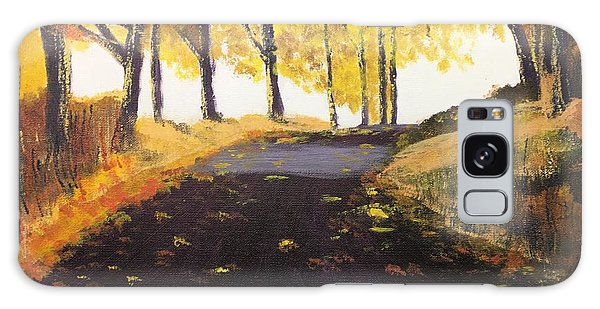 Road In Autumn Galaxy Case