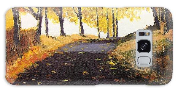 Road In Autumn Galaxy Case