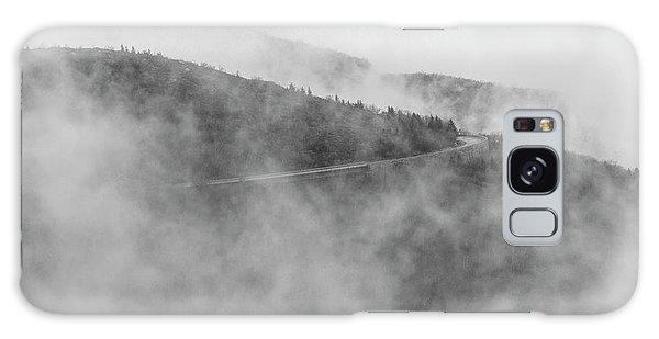 Road In Fog - Blue Ridge Parkway Galaxy Case