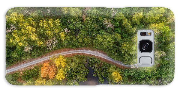 Galaxy Case featuring the photograph Road Inside Jungle From Above by Pradeep Raja PRINTS
