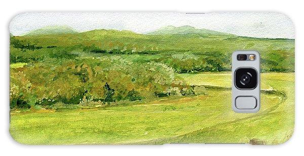 Road Through Vermont Field Galaxy Case