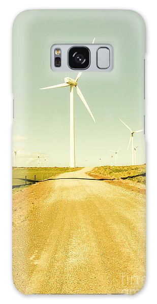 Wind Power Galaxy Case - Road To Green Farming by Jorgo Photography - Wall Art Gallery