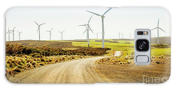 Wind Power Galaxy Case - Road To Natural Energy by Jorgo Photography - Wall Art Gallery