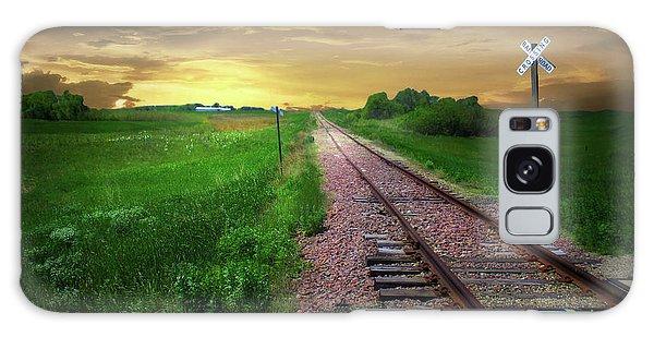 Road Track Crossing Galaxy Case