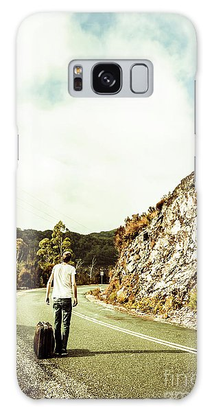 Old Road Galaxy Case - Road Tripping Tasmania by Jorgo Photography - Wall Art Gallery