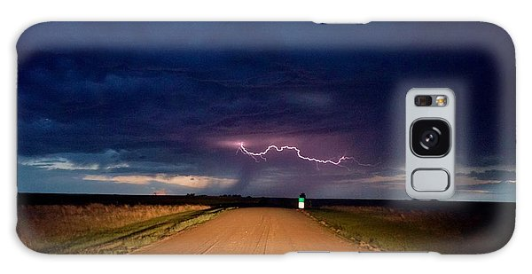 Road Under The Storm Galaxy Case by Ed Sweeney
