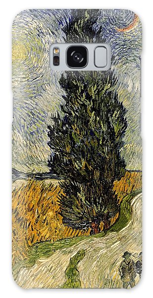 Cart Galaxy Case - Road With Cypresses by Vincent Van Gogh