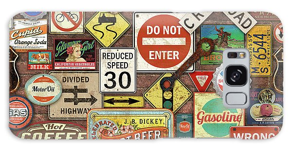 66 Galaxy Case - Roads Signs On Brick-jp3957 by Jean Plout