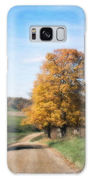 Countryside Galaxy Case - Roadside Tree In Autumn by Tom Mc Nemar