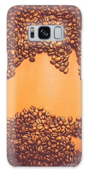 Cafe Galaxy Case - Roasted Australian Coffee Beans Background by Jorgo Photography - Wall Art Gallery