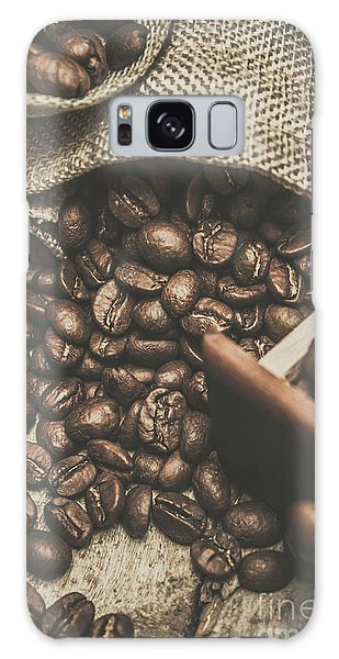 Cafe Galaxy Case - Roasted Coffee Beans In Close-up  by Jorgo Photography - Wall Art Gallery