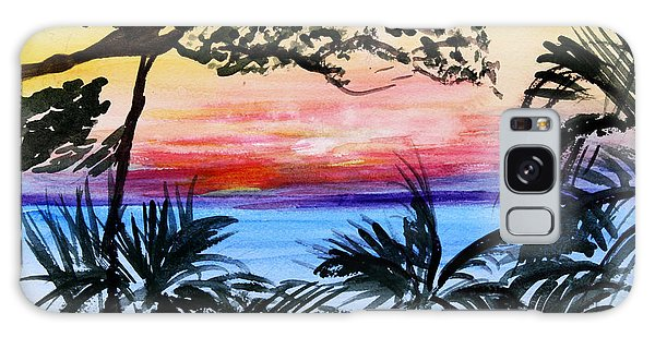 Roatan Sunset Galaxy Case by Donna Walsh