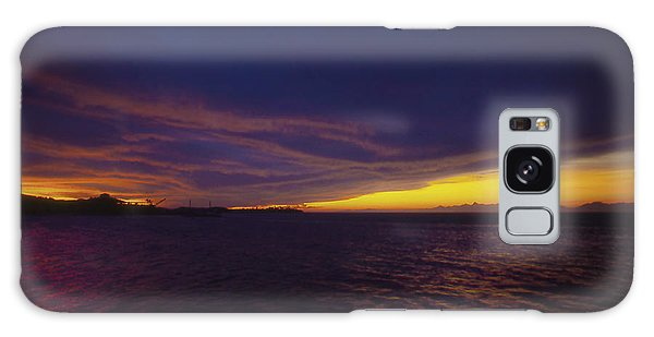 Roatan Sunset Galaxy Case by Stephen Anderson