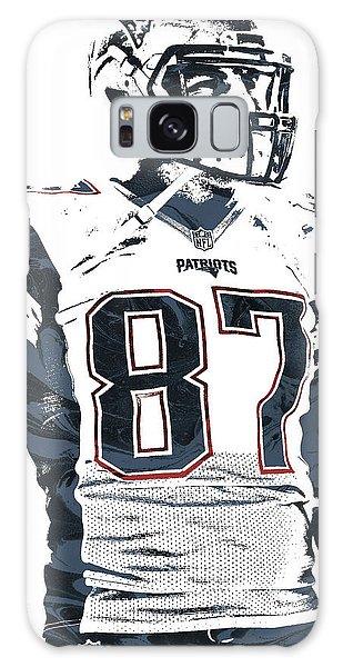 Rob Gronkowski New England Patriots Pixel Art 3 Galaxy Case by Joe Hamilton