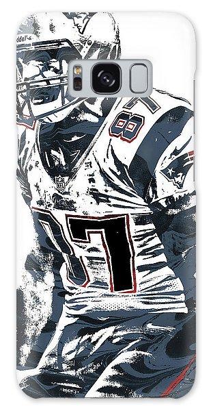 Rob Gronkowski New England Patriots Pixel Art 4 Galaxy Case by Joe Hamilton